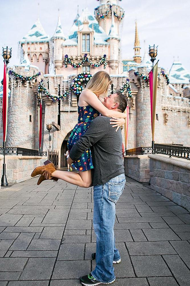 disney proposals on castle background
