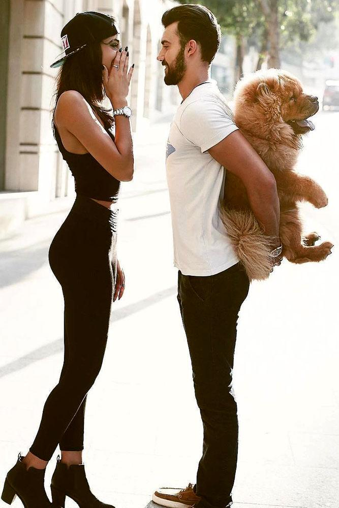 engagement photo ideas proposal with pet