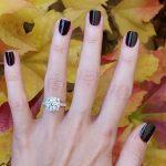 fall proposal ideas hand with engagement ring