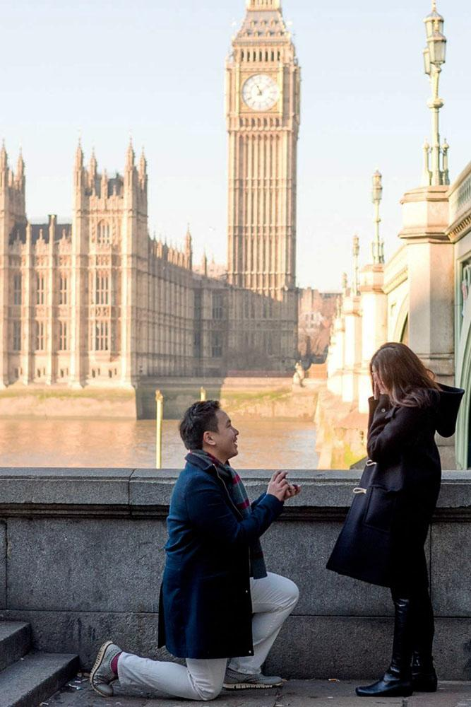 fall proposal ideas london engagement tower view