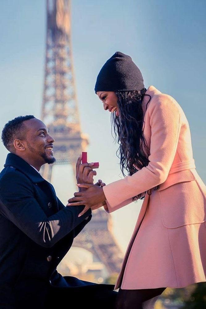 fall proposal ideas paris girl in pink coats