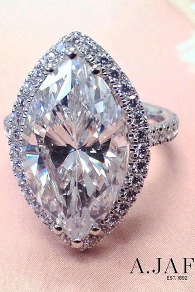 marquise diamond halo white gold