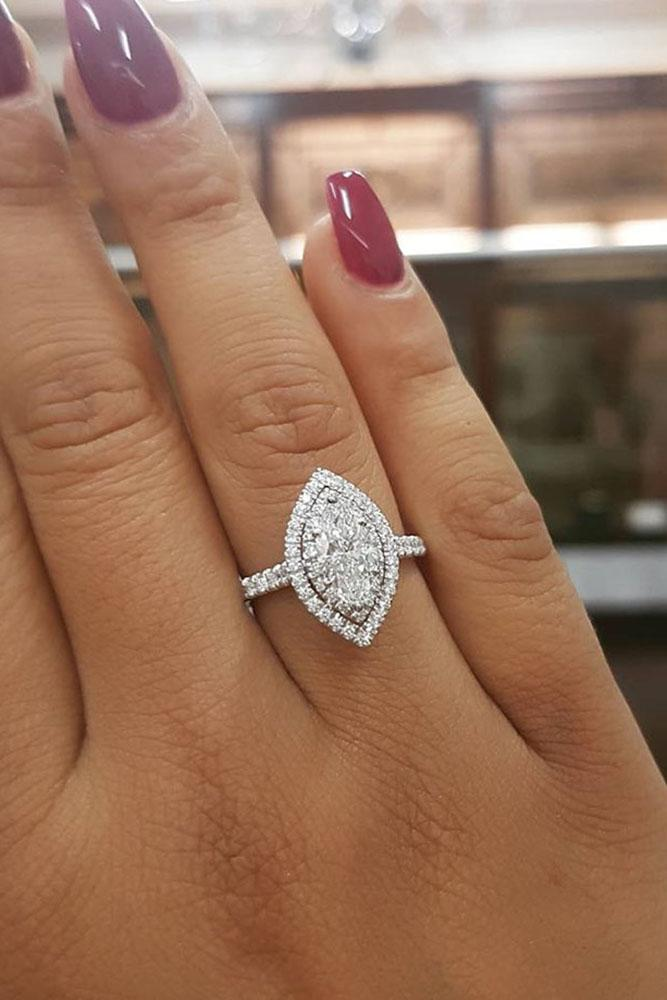 Marquise Engagement Ring With Diamond Band