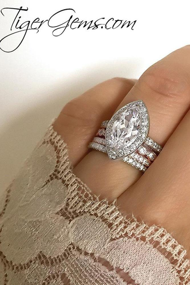 marquise diamond wedding set