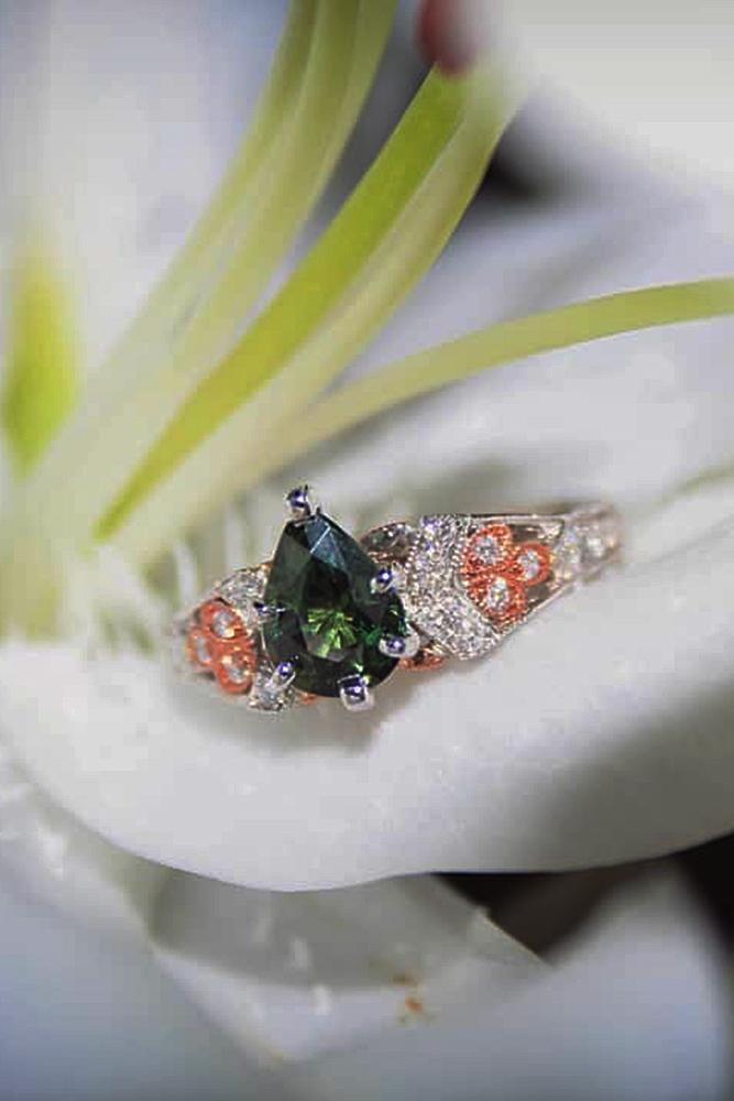 pear shaped engagement rings gemstones unique modern