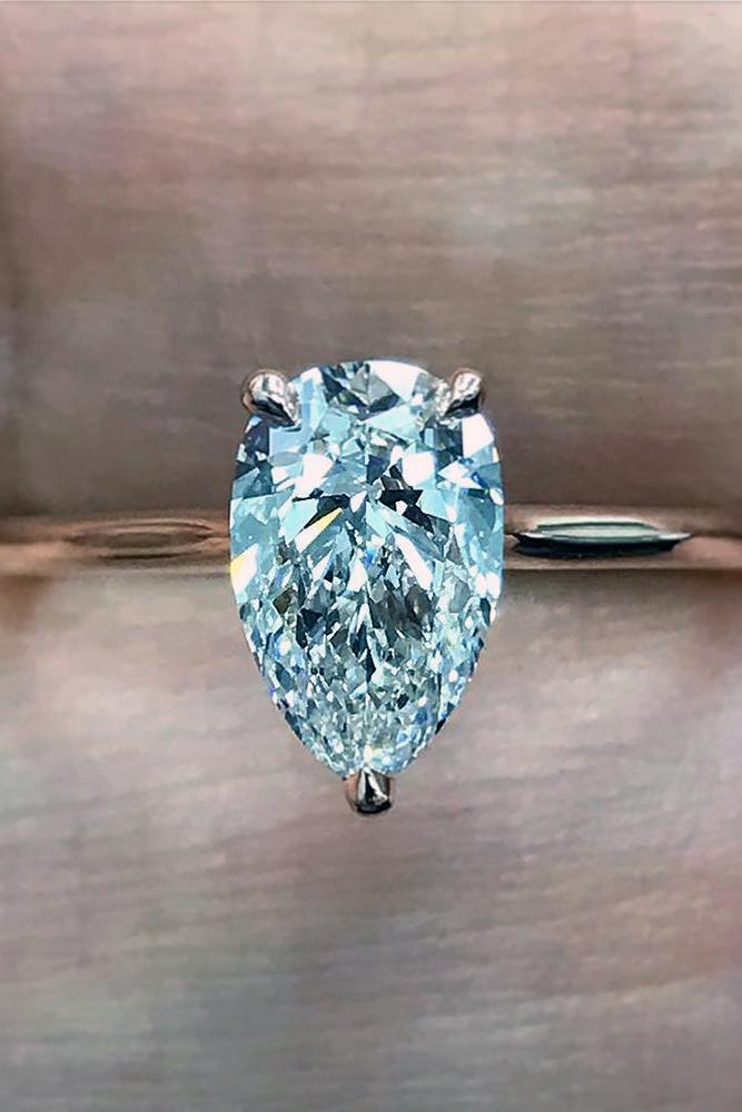 pear shaped engagement rings solitaire diamond rose gold