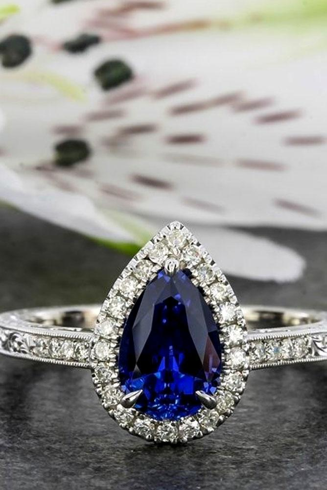 pear shaped engagement rings white gold sapphire