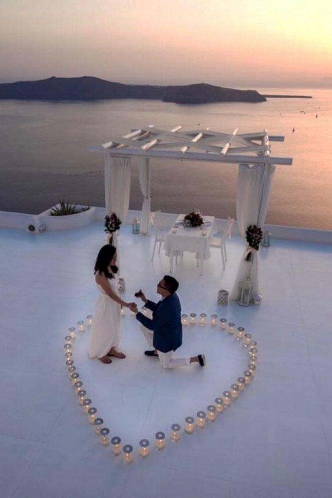 perfect proposals candles heart and sunrise