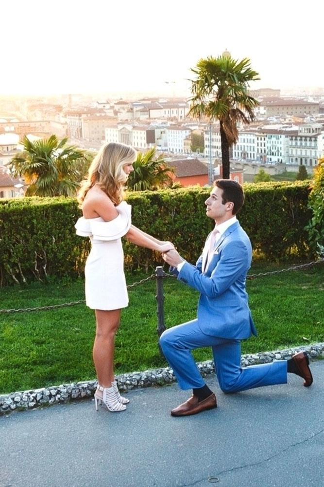 perfect proposals in a park on the street
