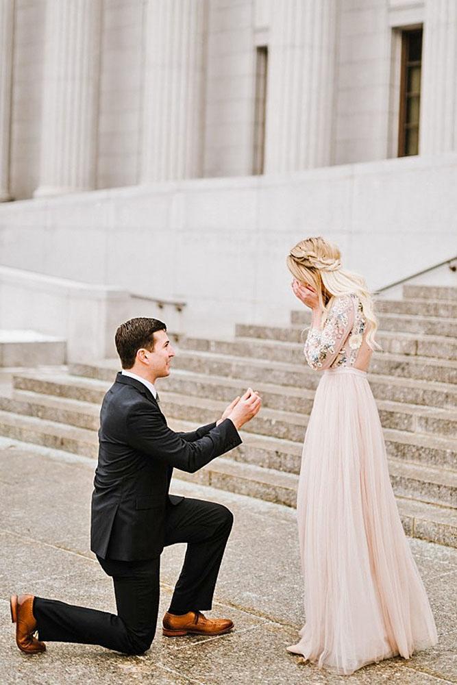 perfect proposals romantic proposal in antique place