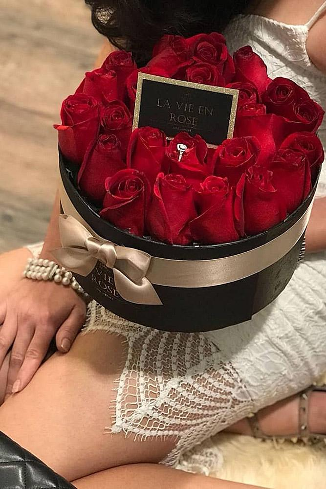perfect proposals roses engagement ring surprise