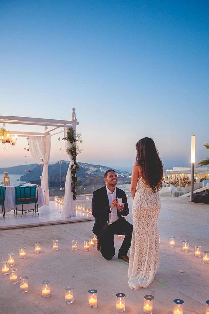 perfect proposals with arch and candles