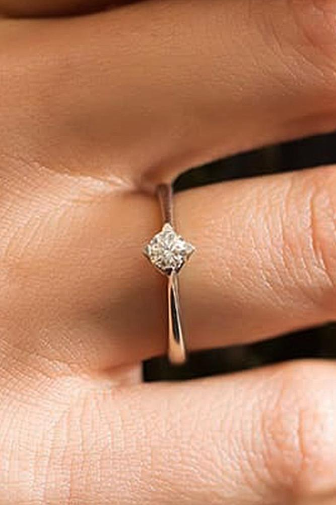 round engagement rings rose gold diamond solitaire