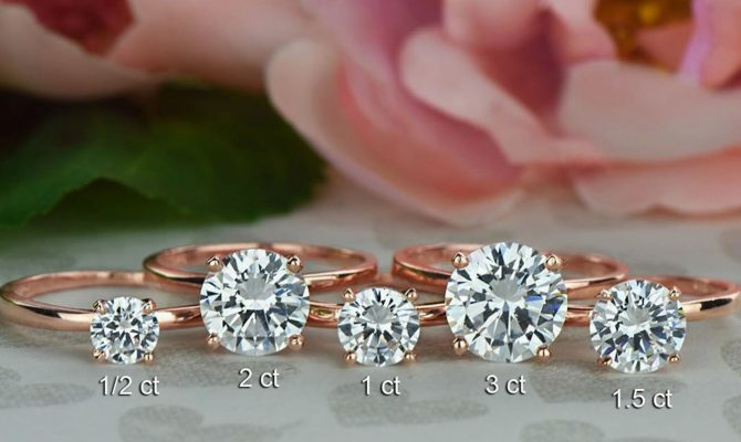 round engagement rings solitaire rose gold