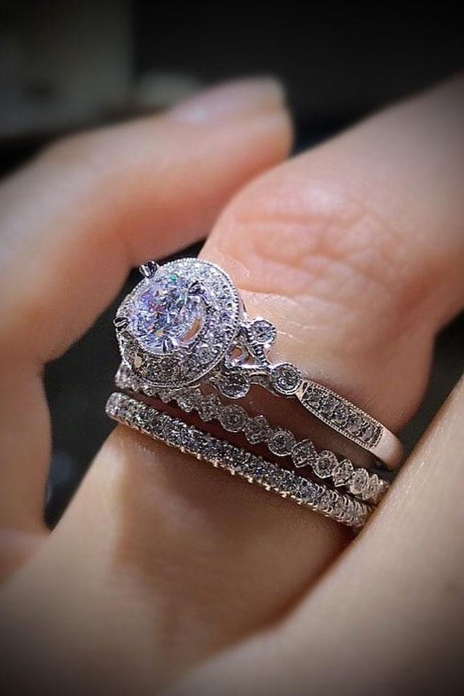 unique engagement promise and wedding rings jewellery diamond perfect