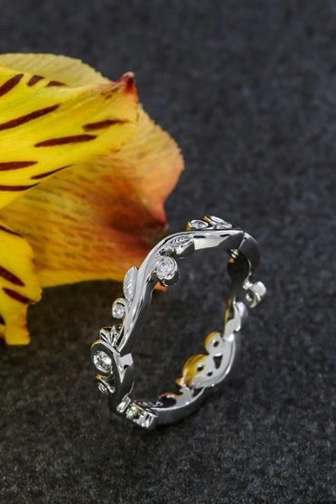 vintage wedding band white gold tender ring