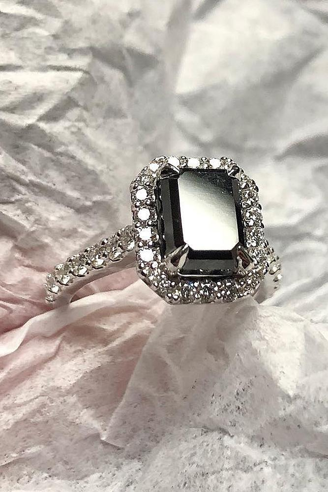 36 Unique Black Diamond Engagement Rings Oh So Perfect