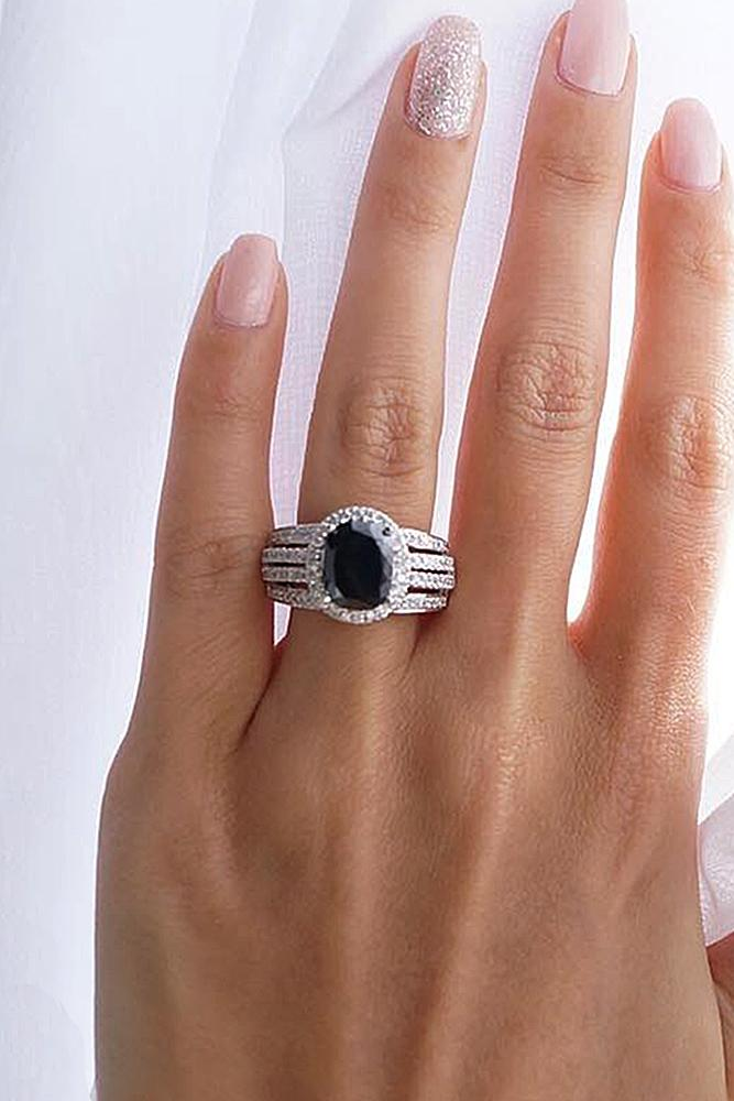 rings black her for wedding engagement bands diamond