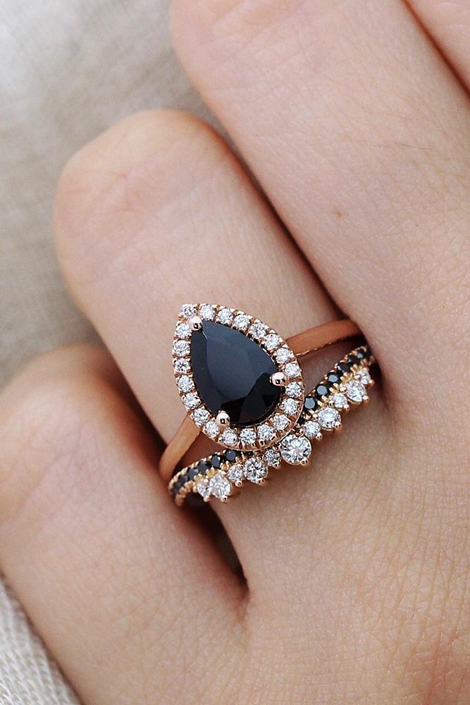 Pear Diamond Ring Rose Gold