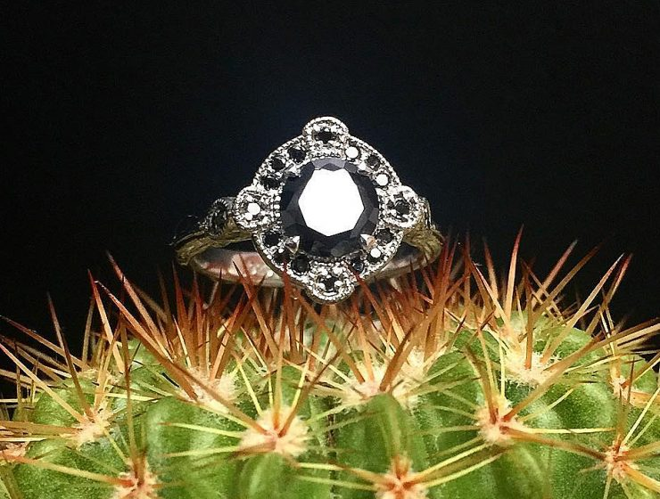 black diamond engagement rings vintage
