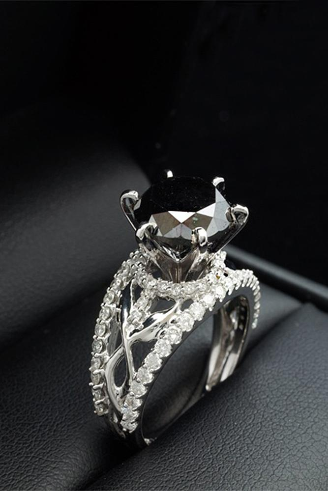 24 Unique Black Diamond Engagement Rings Oh So Perfect