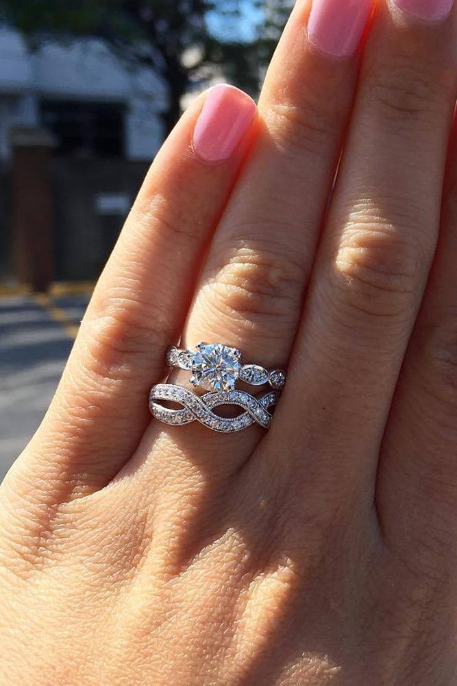 diamond wedding rings cushion cut diamond white gold