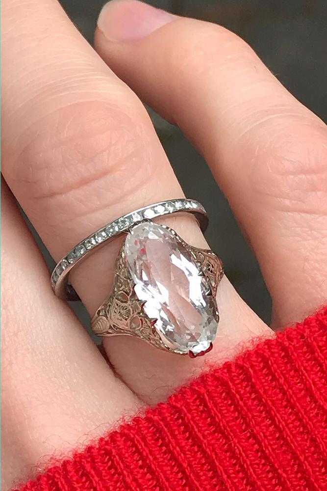 diamond wedding rings ovalcut diamond pave band white gold