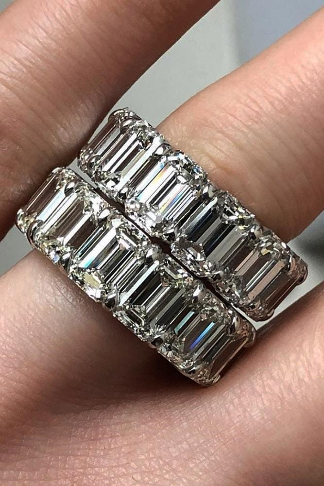 emerald engagement rings emerald cut eternity band rings wonderful