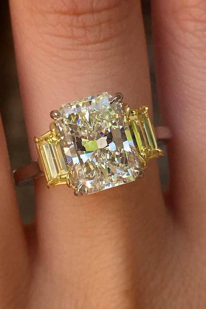 yellow diamond wedding ring 24 emerald engagement rings for a finger oh so 1515