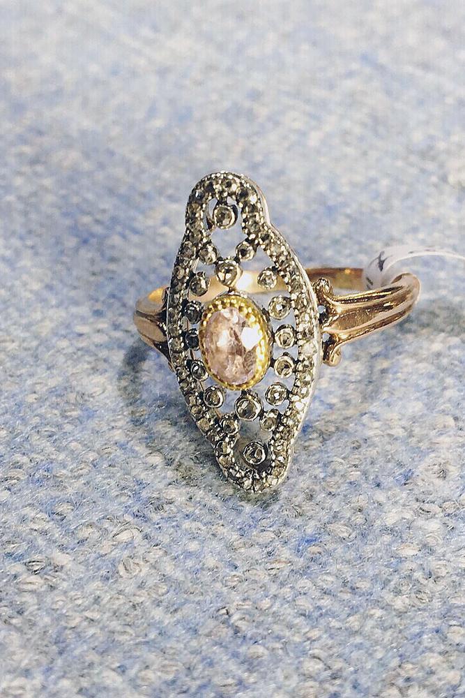 gemstone engagement rings oval topaz stone vintage setting white rose gold