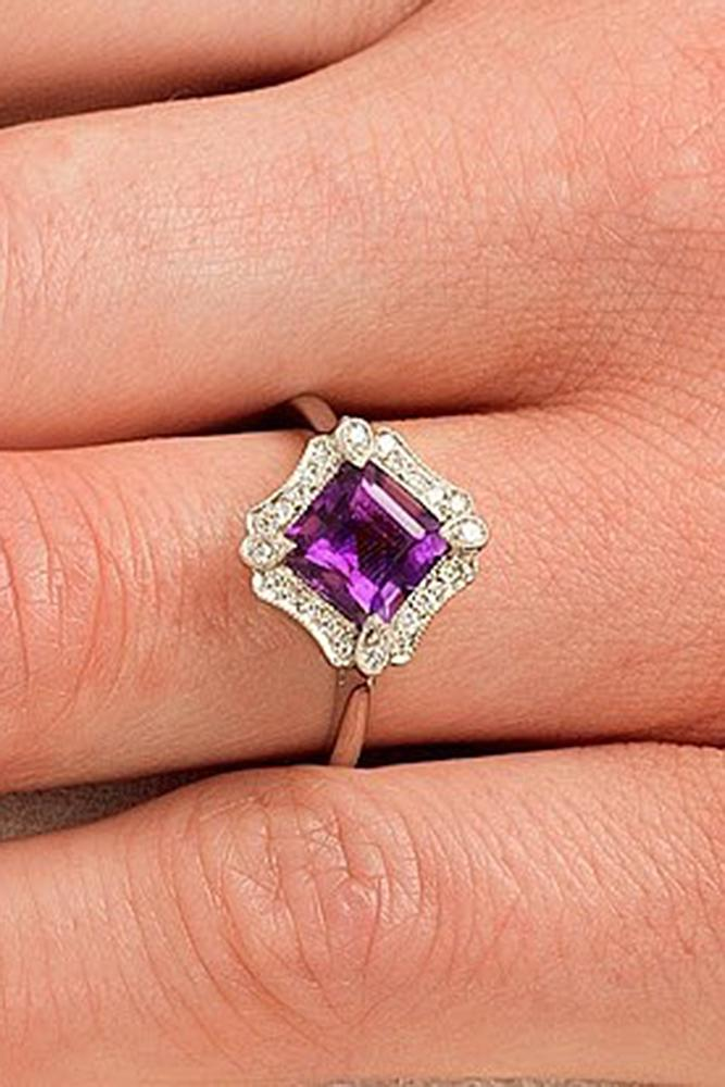 30 Gemstone Engagement Rings For A Unique Woman Oh So