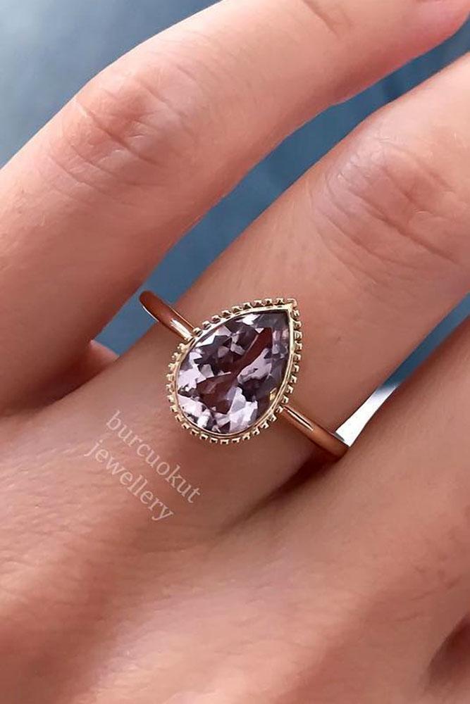 gemstone engagement rings vintage rose gold ring tourmaline