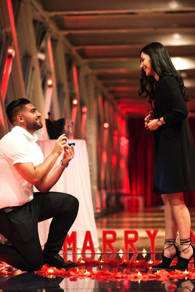 marriage proposal red rose proposal idea