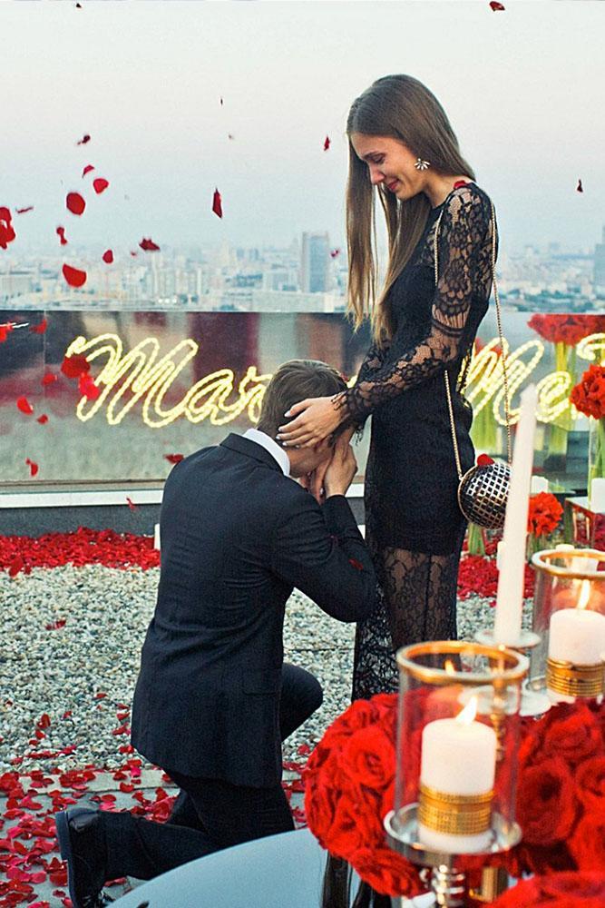 marriage proposal rose proposal idea romantic