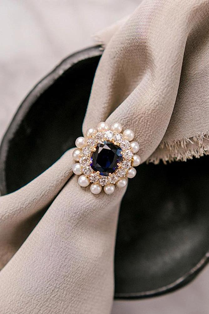 oval engagement rings double halo sapphire gemstones vintage