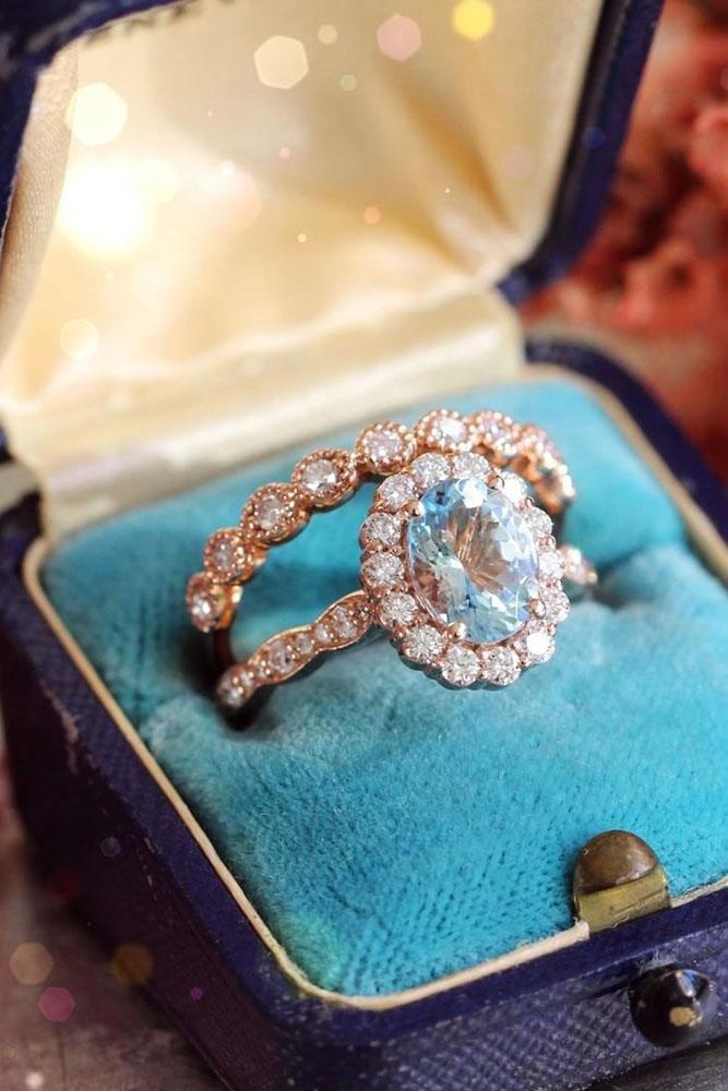 oval engagement rings rose gold morganite vintage