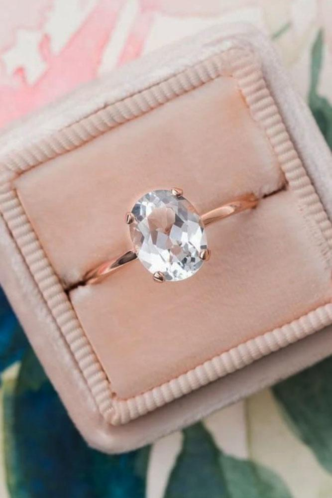 oval engagement rings rose gold oval cut simple