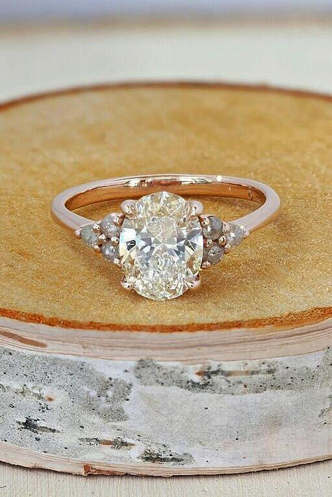 oval engagement rings solitaire diamond rose gold