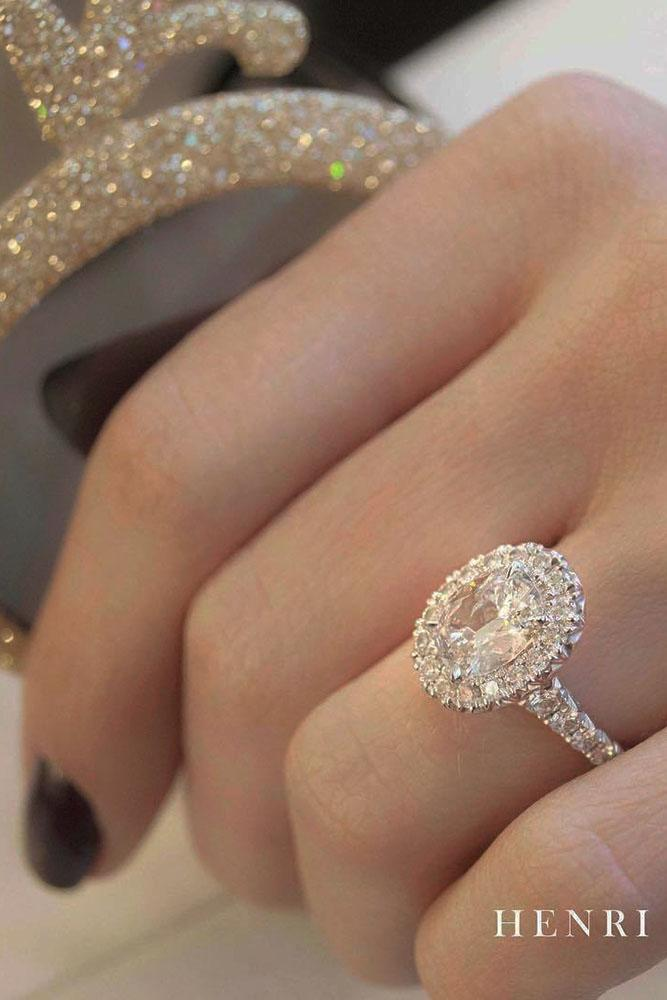 oval engagement rings white gold halo diamond ring