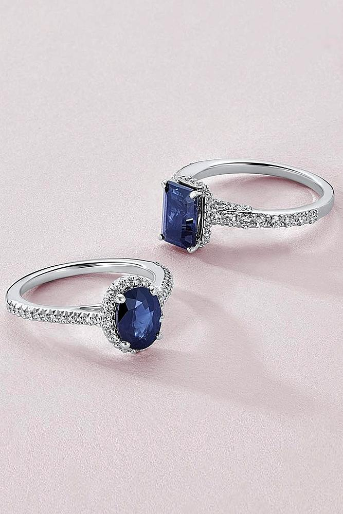 ritani engagement rings colored gemstones sapphire white gold pave band