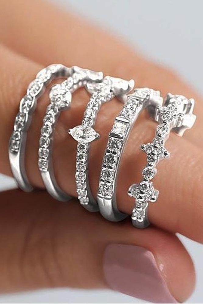 ritani engagement rings diamond white gold pave band diamonds