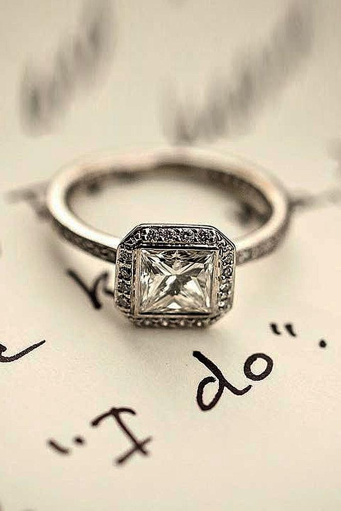 ritani engagement rings princess cut halo vintage gold diamond