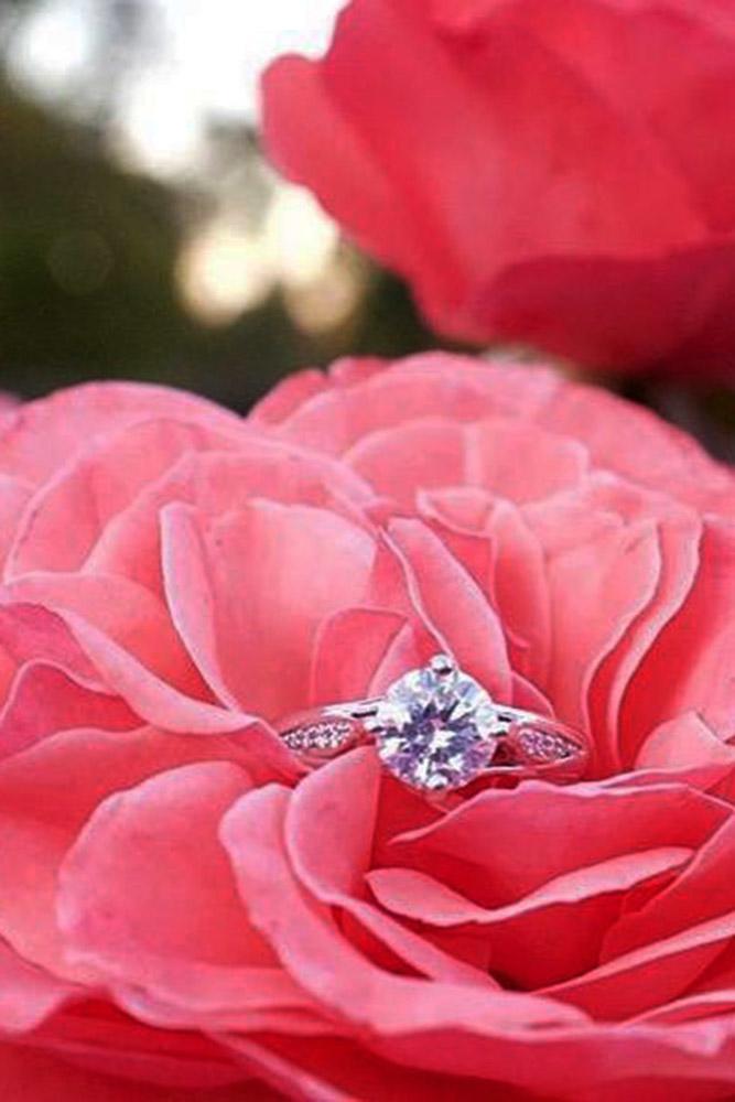ritani engagement rings round cut diamond pave band unique