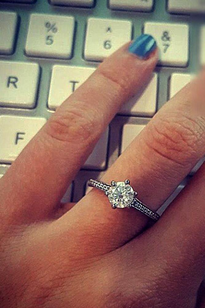 ritani engagement rings round simple pave band