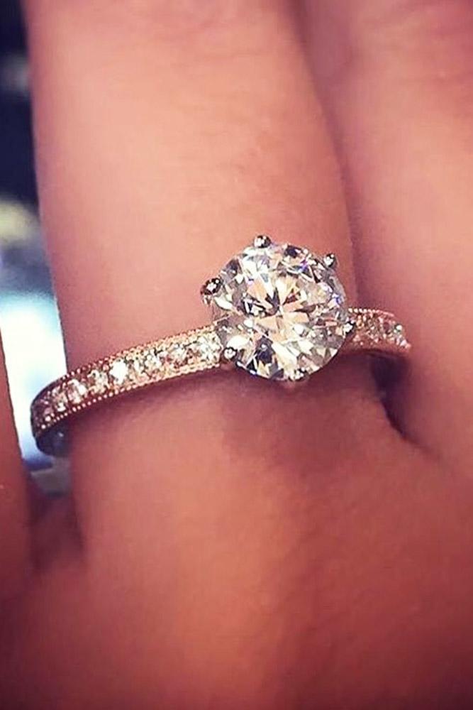 ritani engagement rings solitaire rose gold ring diamond