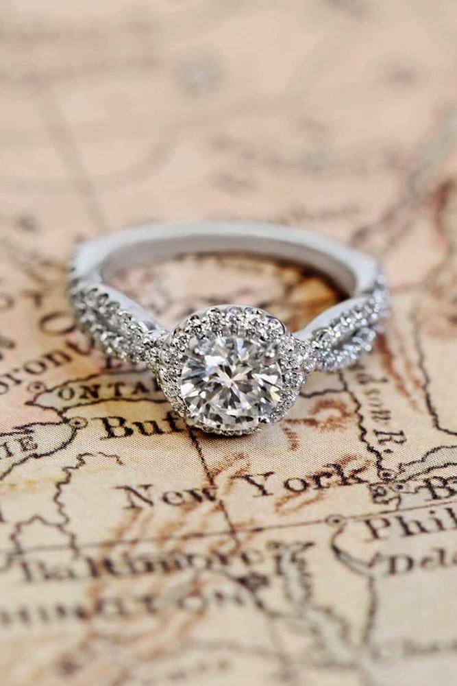 ritani engagement rings twist white gold round diamond halo