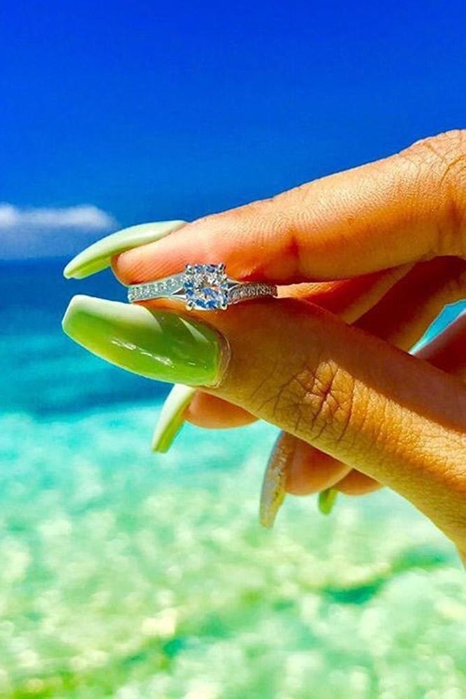 ritani engagement rings unique cushion cut diamond white gold pave band ring