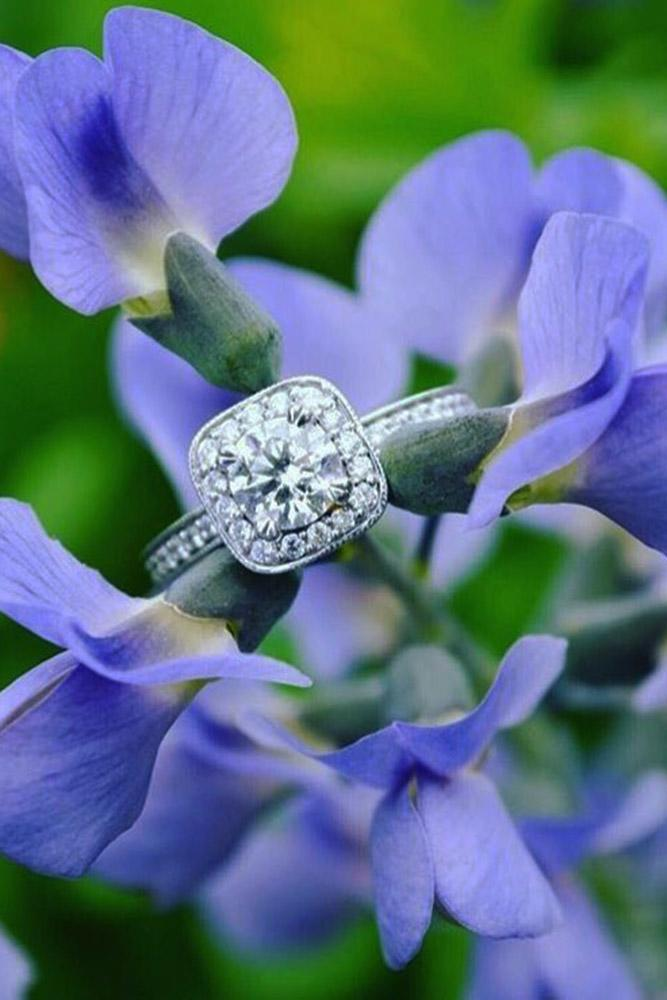 ritani engagement rings white gold diamond halo pave band