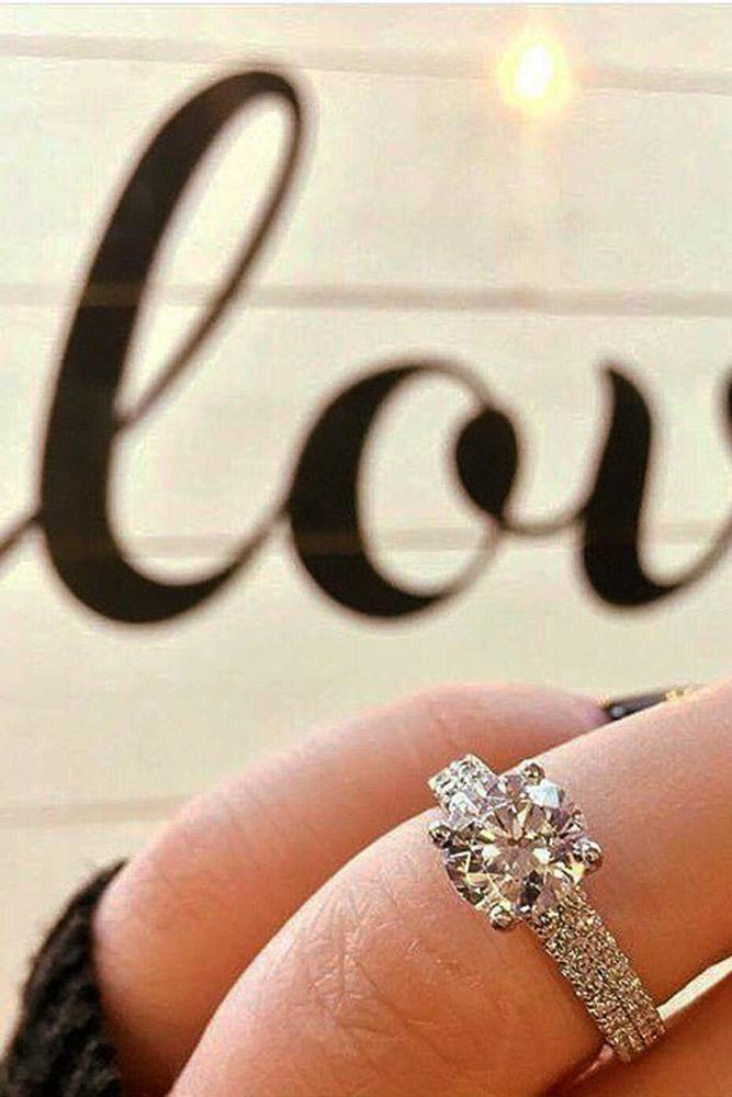 ritani engagement rings white gold double pave bands cushion cut diamond