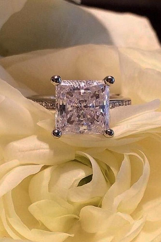 ritani engagement rings white gold princess cut ring pave band